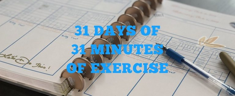 Join Me For 31 Days of 31 Minutes of Exercise