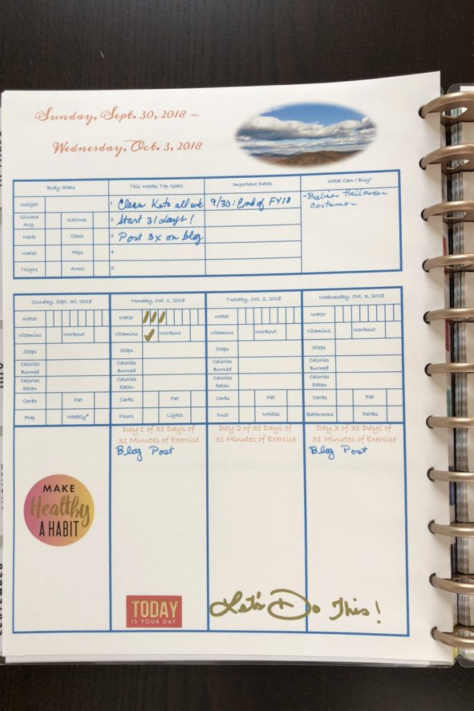 Join me in 31 Days of 31 Minutes of Exercise Journal
