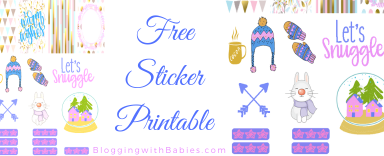 Blogging with Babies Free Sticker Printable