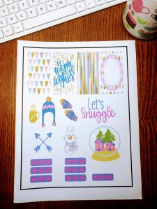 Free Sticker Printables: printing with the Cricut registration marks.