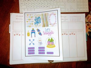 Free Sticker Printables: printed with the Cricut registration marks.