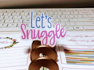 Let's Snuggle Sticker has a great cut but the pixelation needs to be adjusted.