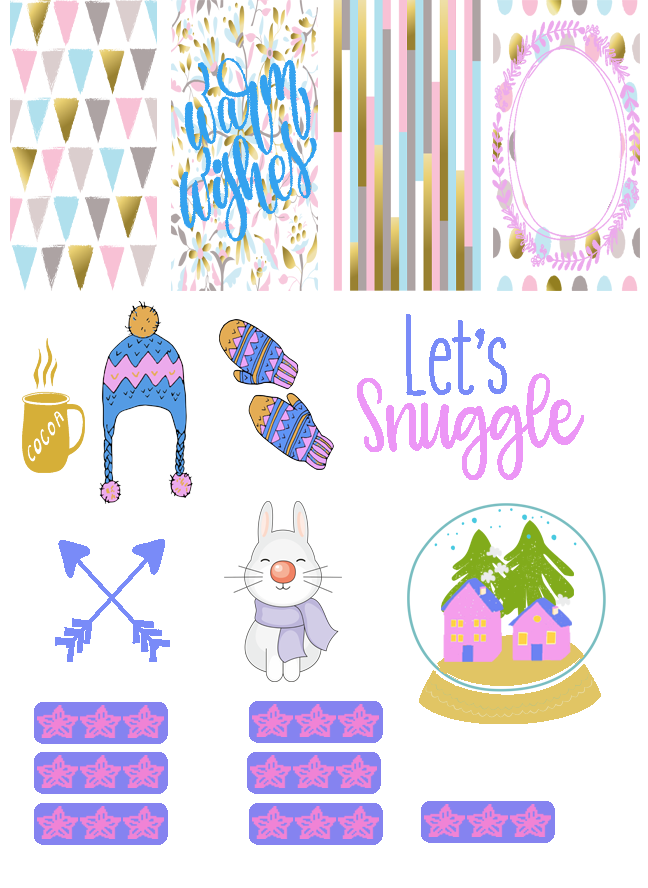 Blogging with Babies Warm Wishes Free Sticker Printable PNG file
